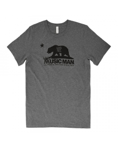 Ernie Ball Music Man California Heritage T-Shirt - Heather Gray