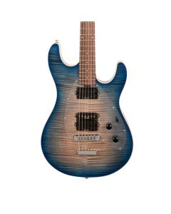 Ernie Ball Music Man Steve Morse Y2D Blue Burst Flame