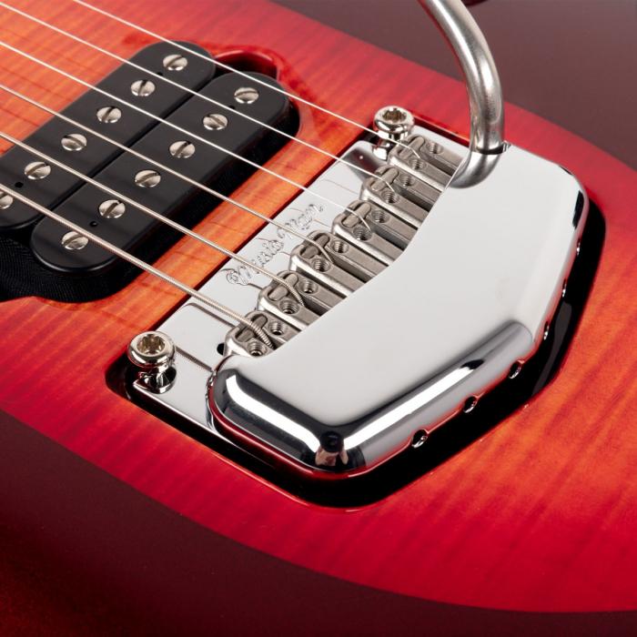 Ernie Ball Music Man Majesty 6 String Cherry Glow Chrome Hardware