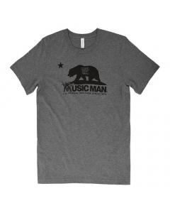 Ernie Ball Music Man California Heritage T-Shirt - Heather Gray
