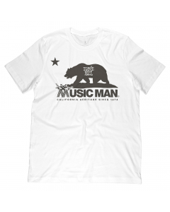 Ernie Ball Music Man California Heritage T-Shirt - White