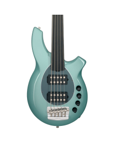 Ernie Ball Music Man Fretless Bongo 5 HH Bass - Dorado Green