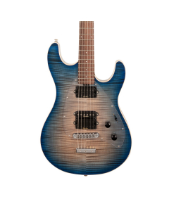 Ernie Ball Music Man Steve Morse Y2D Blue Burst Flame