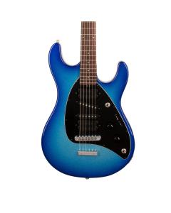 Ernie Ball Music Man Steve Morse Blue Burst Sparkle