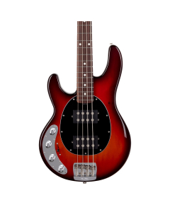 Left Handed Ernie Ball Music Man StingRay Special HH Bass - Burnt Amber